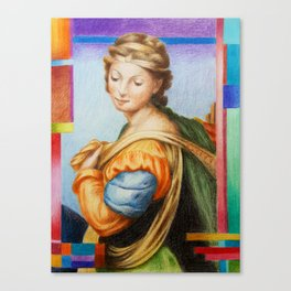 Sta Barbara. after Raphael Canvas Print