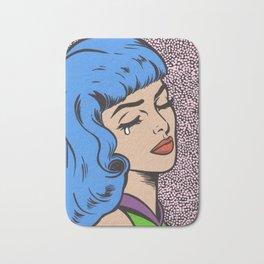 Blue Bangs Crying Girl Bath Mat