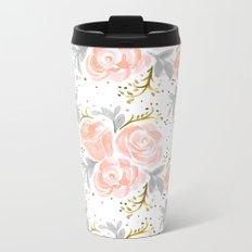 Sparkling Rosé flora Metal Travel Mug
