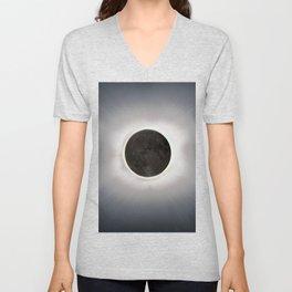 Total Eclipse by  OLena Art Unisex V-Neck