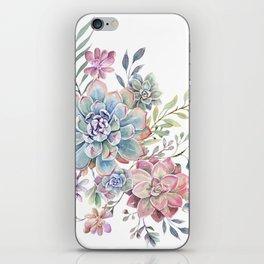 succulent watercolor 6 iPhone Skin