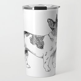 French Bulldog Ink Drawing Travel Mug