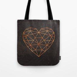 COPPER HEART Tote Bag