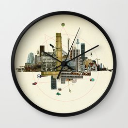 Collage City Mix 8 Wall Clock