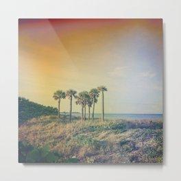 Seven Palm Trees Summer Vibes Metal Print