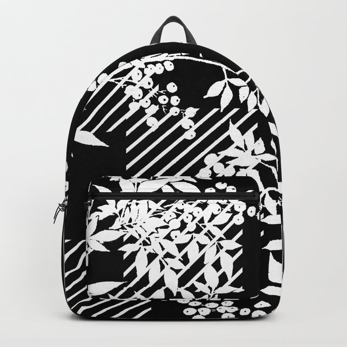 TOILE LEAF AND DIAMOND PATTERN Backpack