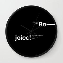 philippians 0404 Wall Clock