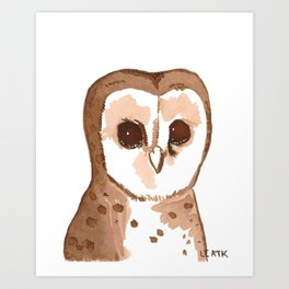Sweets the owl Art Print