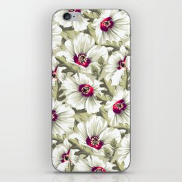 New Zealand Hibiscus Floral Print (Day) iPhone Skin