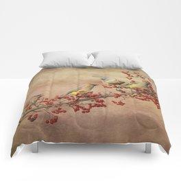Cedar Waxwings Gathering Comforters
