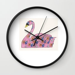 Swan Cocktail Wall Clock