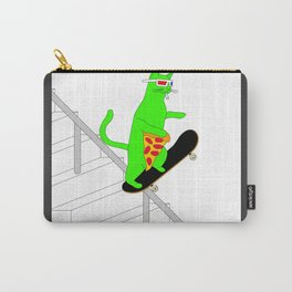 """""""Psychedelic Skateboading Pizza Cat #2"""", by Brock Springstead Carry-All Pouch"""