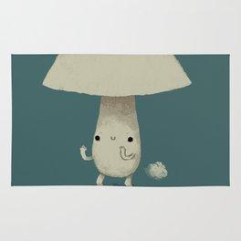 mushroom cloud Rug