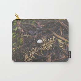 White Mushroom on Forest Floor Carry-All Pouch