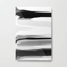 Soft Determination Black & White Metal Print