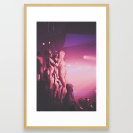 stage presence  Framed Art Print