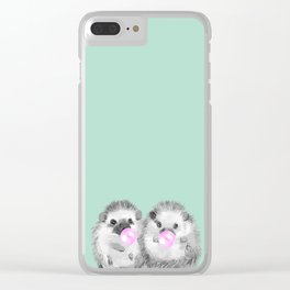 Playful Twins Hedgehog Clear iPhone Case