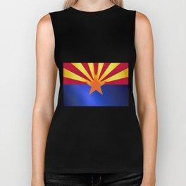Arizona State Flag Gloss Biker Tank