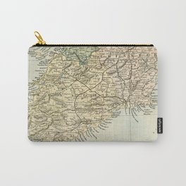 Vintage and Retro Map of Southern Ireland Carry-All Pouch
