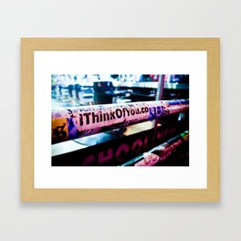 I Think of You Framed Art Print