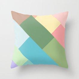 pastel lines Throw Pillow