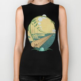 Slipping Through the Fabric of Space and Time Biker Tank