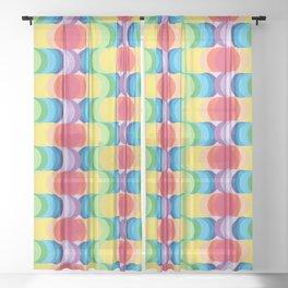 Rainbow Dragon Scales 2 Sheer Curtain