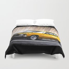 AMERICAN MUSCLE CHEVY CHEVELLE IN YELLOW EXPRESSION Duvet Cover
