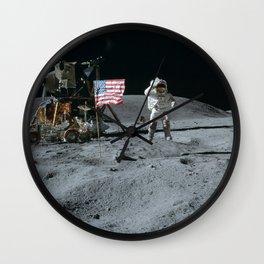 Apollo 16 - Astronaut Moon Jump Wall Clock