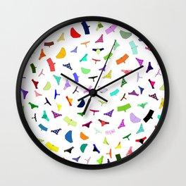 Colorful panties print Wall Clock