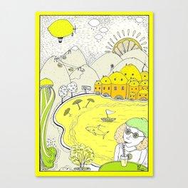 Lemon paradise Canvas Print