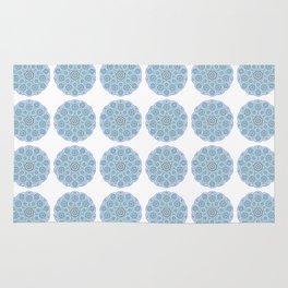 Collage of blue madalas Rug