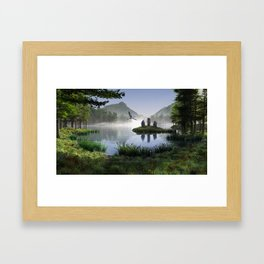 The Three Sisters Framed Art Print