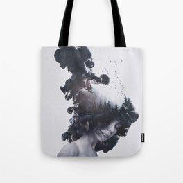 Walking trough flames Tote Bag