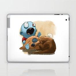 Zombies like to bite stuff too. Laptop & iPad Skin