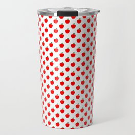 Red Apple Fruit Food Pattern Travel Mug