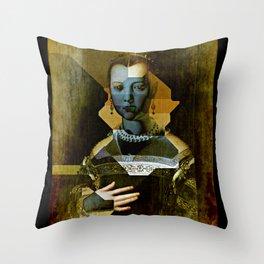 Marie de Medici V1 - Bronzino Throw Pillow
