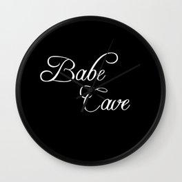 babe cave Wall Clock