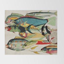 Fantastic Fish Tank Throw Blanket