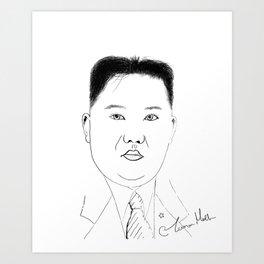 Supreme Leader Kim jong un Art Print