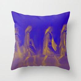 Walking women Throw Pillow
