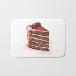 Chocolate Layer Cake Slice Bath Mat