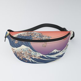 The Great Wave of Dachshunds Fanny Pack