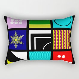 Eclectic 1 - Random collage of 9 bold colourful patterns in an abstract style Rectangular Pillow