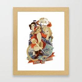 Puss in Boots Art Print Poster Design Framed Art Print