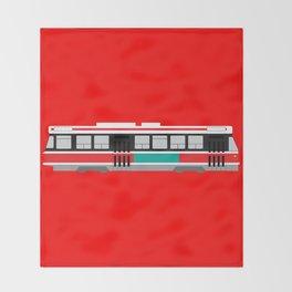 Toronto TTC Streetcar Throw Blanket