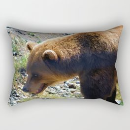 Griz - Wildlife Art Print Rectangular Pillow