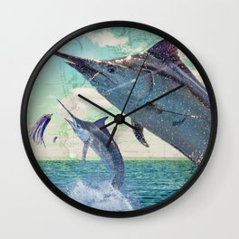 Catch a Marlin if You Can Wall Clock