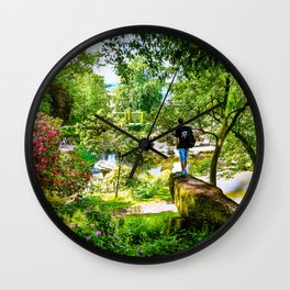 Chatsworth House Gardens. Wall Clock
