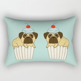 Pug-fin Rectangular Pillow